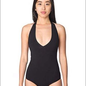 American Apparel black halter bodysuit